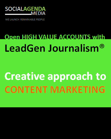 Lead Generation & brand journalism - content marketing for b2b leads